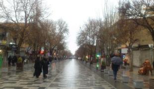 عکس/یک عصر بارانی در پیاده راه بوعلی