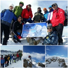 صعود کوهنوردان همدانی به قله کلاغ لانه